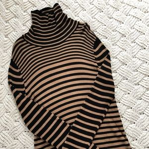 The Limited striped turtleneck sweater